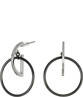 French Connection - Orbital D Ring Hoop Earrings