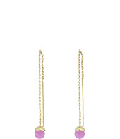 French Connection - Delicate Semi-Precious Bead Threader Earrings