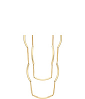French Connection - Multi Row Delicate Chain with Tube Stations Endless Necklace