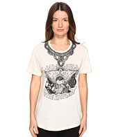 The Kooples - Embroidery Mix Linen Short Sleeve Tee