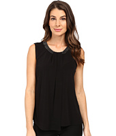 Calvin Klein - Sleeveless Top w/ Beads and Draping
