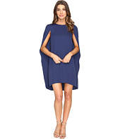 Halston Heritage - Cape Sleeve Round Neck Dress
