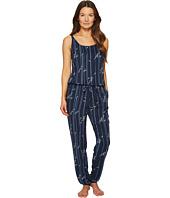 Emporio Armani - Printed Viscose Loungewear Sleeveless Playsuit
