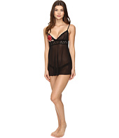 Hanky Panky - Rose Applique Babydoll with G-String