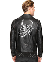 Just Cavalli - Scorpion Leather Moto Jacket