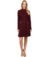 Maggy London - Diamond Knit Jacquard Fit and Flare