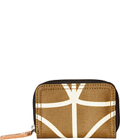 Orla Kiely - Matt Laminated Giant Linear Stem Print Medium Zip Wallet