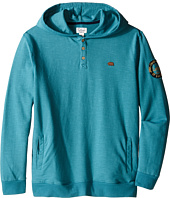 Lucky Brand Kids - French Terry Hoodie w/ Button Front & Screen Print On Back (Big Kids)