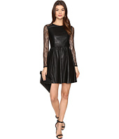 ONLY - Sara Faux Leather Mix Dress