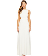JILL JILL STUART - Crepe Sleeveless Gown with Cut Outs