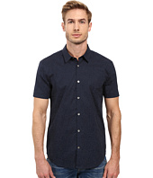 John Varvatos Star U.S.A. - Slim Fit Sport Shirt with Cuffed Short Sleeves W443S2L