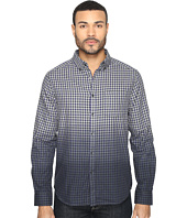 Kenneth Cole Sportswear - Long Sleeve Dip-Dye Gingham Check