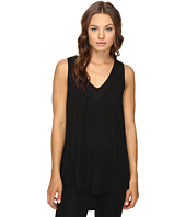 HEATHER - Silk Panel Swing Tank Top