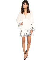 Brigitte Bailey - Belisa Long Sleeve Embroidered Lace-Up Dress