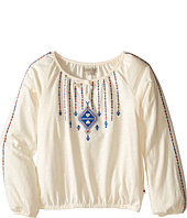 Lucky Brand Kids - Long Sleeve Peasant Top with Lurex and Embroidery (Big Kids)