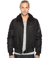 Members Only - Military Bomber Jacket with Sherpa Collar
