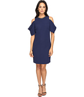 Laundry by Shelli Segal - Embellished Neck Crepe Dress