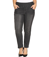 Jag Jeans Plus Size - Plus Size Amelia Pull-On Slim Ankle Comfort Denim in Thunder Grey