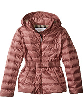 Burberry Kids - Janie Checked Hood Jacket (Little Kids/Big Kids)