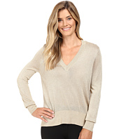 MICHAEL Michael Kors - Metallic V-Neck Sweater High-Low