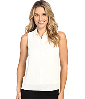 MICHAEL Michael Kors - Sleeveless Button Down Tank Top w/ Rib Trim
