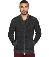 Michael Stars - Marled Slub Full Zip Bomber Sweater Jacket