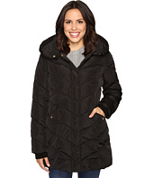Steve Madden - Hooded Chevron Puffer Coat