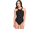 Leather Bonnie Underwire One-Piece Swimsuit