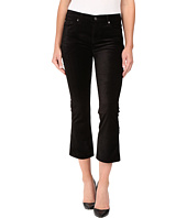 7 For All Mankind - Cropped Boot in Black Velvet
