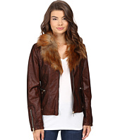 Scully - Elise Faux Leather and Fur Jacket