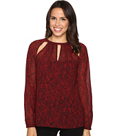 MICHAEL Michael Kors - Umbria Raglan Slit Long Sleeve Top