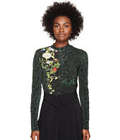 Preen by Thornton Bregazzi - Flor Printed Jersey Bodysuit w/ Zip Sleeves