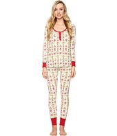BedHead - Long Sleeve Classic Henley Pajama Set