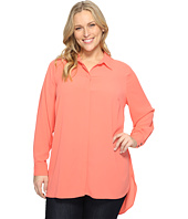 Vince Camuto Specialty Size - Plus Size Long Sleeve Button Up Collared Tunic