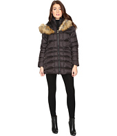 Betsey Johnson - Quilted Fur Hooded Coat