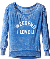 The Original Retro Brand Kids - Weekend I Love You Burnout Pullover (Big Kids)
