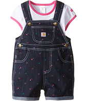 Carhartt Kids - Printed Denim Shortall Set (Infant)