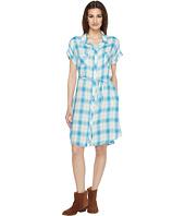 Stetson - 0901 Rayon Twill Plaid Western Shirtdress