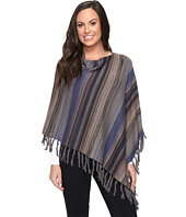 Stetson - 0705 Bu Tone Stripe Scoop Neck Poncho