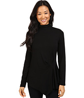 Vince Camuto - Long Sleeve Turtleneck Side Ruched Top