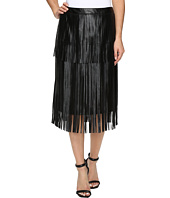 Vince Camuto - Pleather Fringe Tiered Skirt