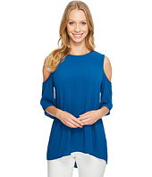 Vince Camuto - Short Sleeve Cold-Shoulder High Low Hem Blouse