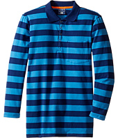 Toobydoo - Blue Times Two Long Sleeve Polo (Toddler/Little Kids/Big Kids)