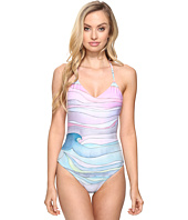 Mara Hoffman - Waves Lace-Up Back One-Piece