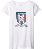 Life is Good Kids - Soccer Shield Tee (Little Kids/Big Kids)