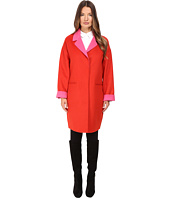 Kate Spade New York - Single Breasted Hidden Button Peacoat 36
