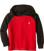 Polo Ralph Lauren Kids - Waffle Long Sleeve Hooded Pullover (Toddler)