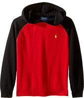 Polo Ralph Lauren Kids - Waffle Long Sleeve Hooded Pullover (Little Kids/Big Kids)