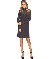 KAMALIKULTURE by Norma Kamali - Long Sleeve Turtleneck Dress To Knee
