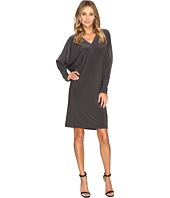 KAMALIKULTURE by Norma Kamali - V-Neck Dolman Dress To Knee